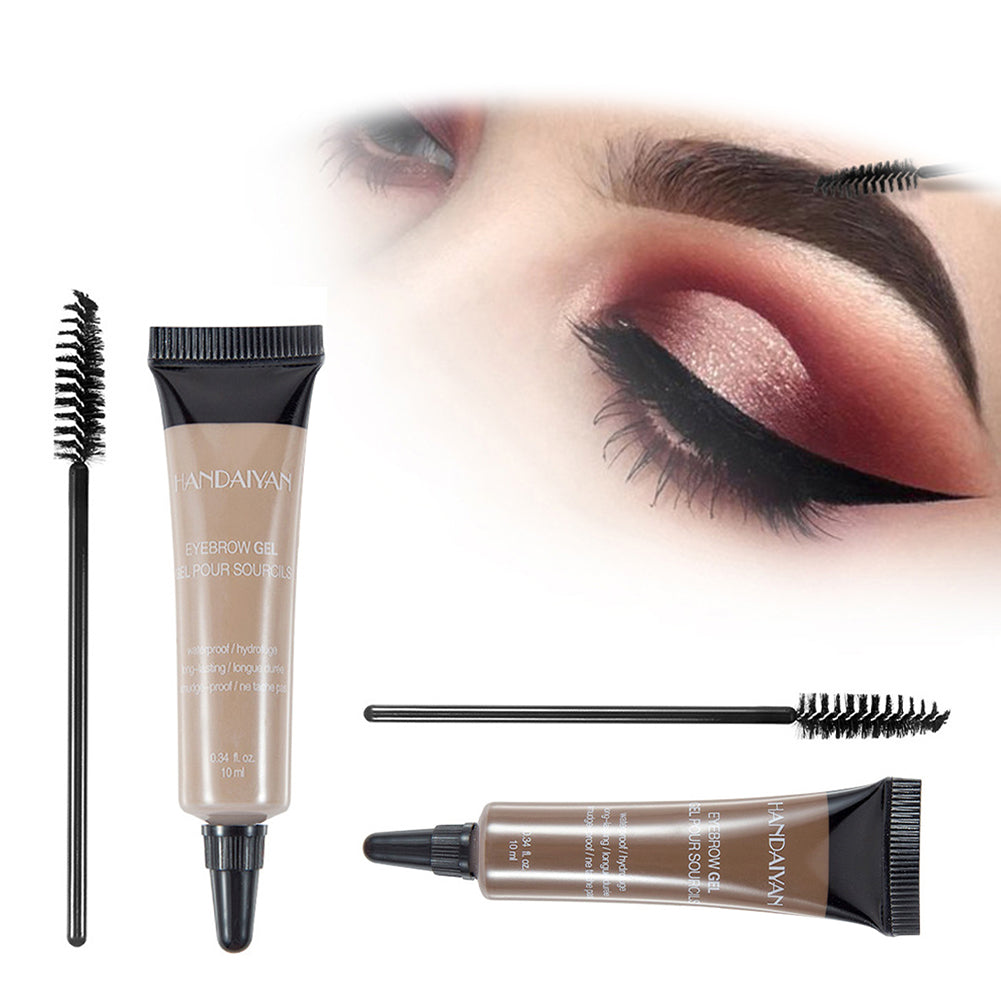MilkySkinForever Waterproof Eyebrow Long Lasting Pigment Liquid Gel Enhancer Makeup with Brush