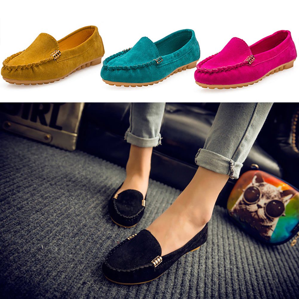 MilkySkinForever Women Fashion Flats Casual Loafers Anti-Slip Solid Color Soft Sneakers Shoes
