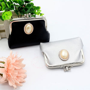 MilkySkinForever Women Double Layer Faux Leather Mini Handbag Coin Case Card Holder Purse Wallet