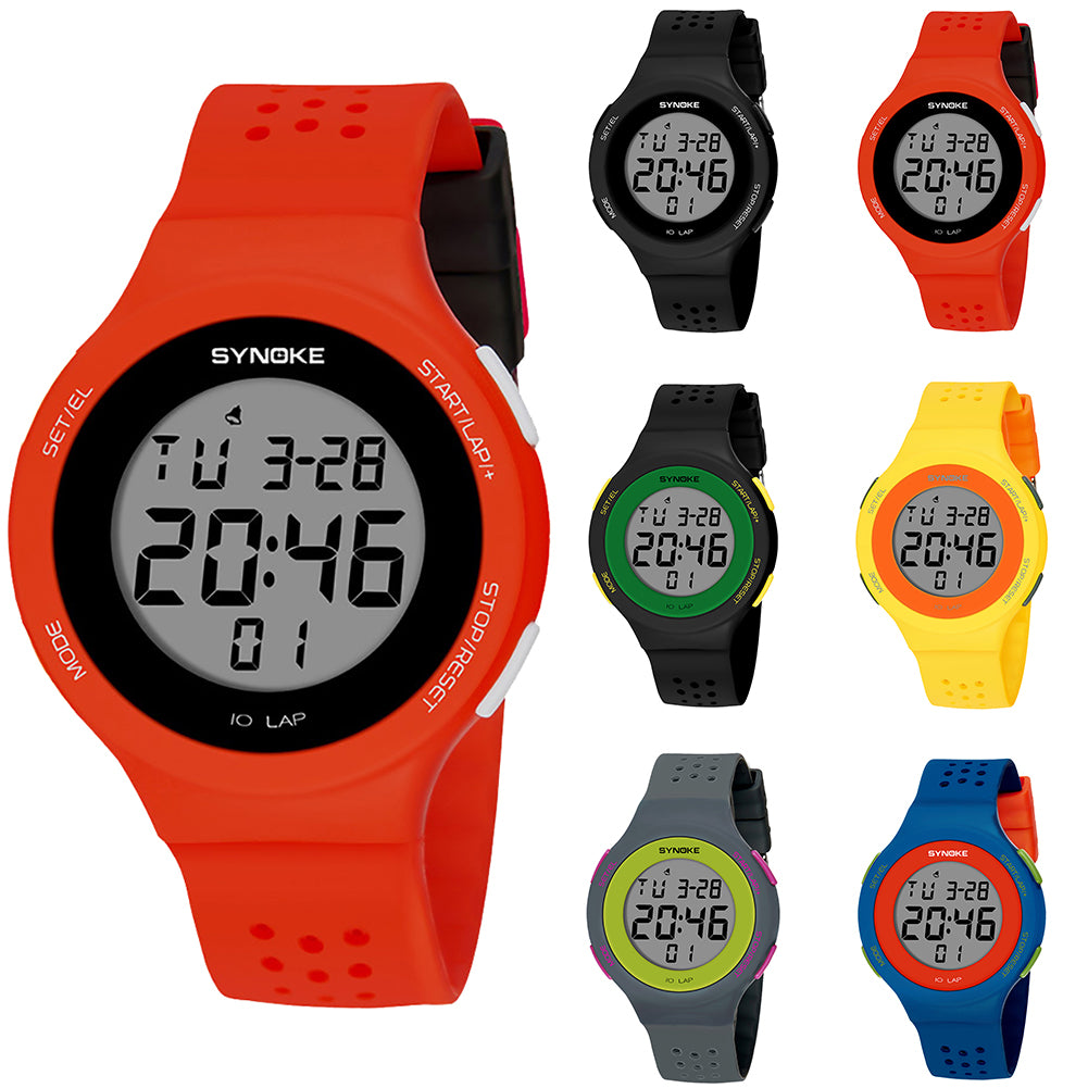 Fashion Sport Men Women Waterproof Alarm Date Stopwatch Digital Wrist Watch Gift
