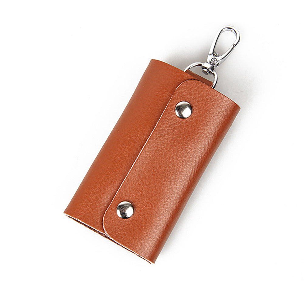MilkySkinForever Pocket Size Cow Leather Car Key Holder Organizer Case Keyring Hanger Pouch Bag