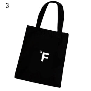 MilkySkinForever Casual Cartoon Weather Large Capacity Tote Handbag Canvas Shopping Shoulder Bag