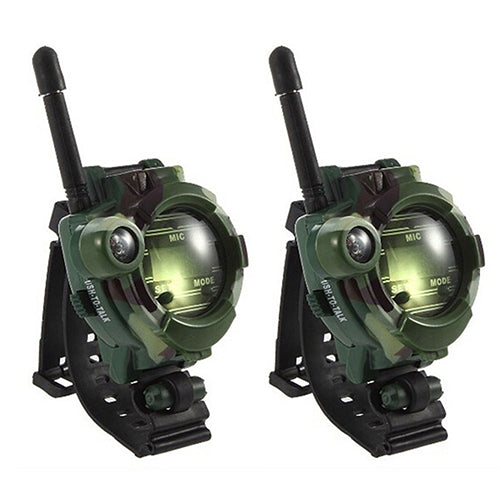 MilkySkinForever 2 Pcs Children Toy Walkie Talkie Kids Watch Style Outdoor Interphone Gifts Toys