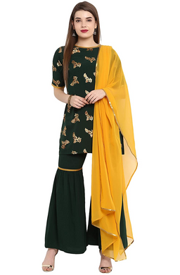 Women's Georgette & Crepe Salwar Suit