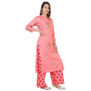 Women's Printed A-Line Kurta and Palazzo Set