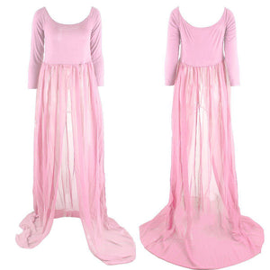 Fashion Pregnant Long Maxi Dress Chiffon Maternity Photography Props Clothes