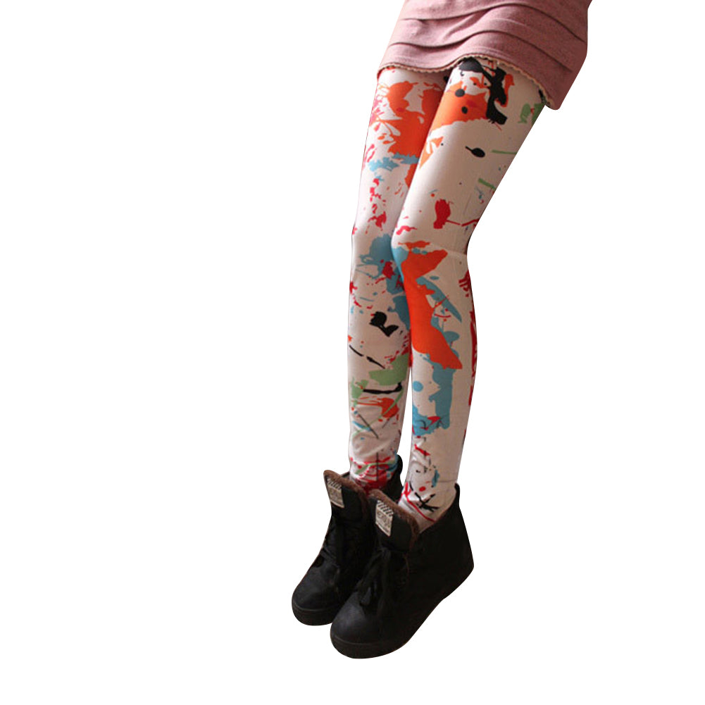 MilkySkinForever Vintage Rose Sunflower Print Women Stretchy Leggings Skinny Jeans Pencil Pants