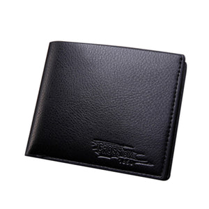 MilkySkinForever Men Fashion Faux Leather Business Bifold Short Wallet Card Holder Clutch Purse