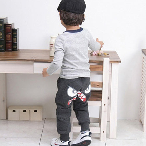 MilkySkinForever Popular Kids Boys Girls Unique Clothes Harem Pants Baby Cartoon Trousers 2Y-8Y
