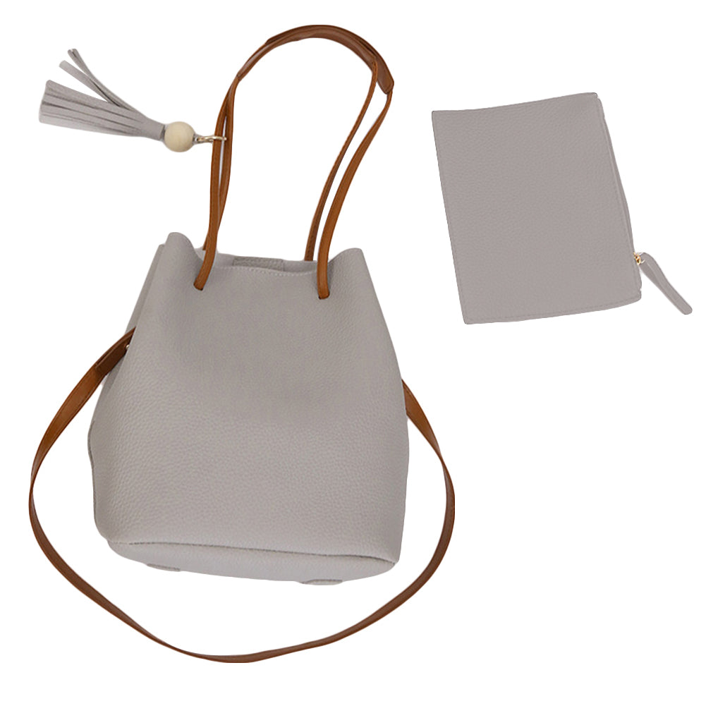 MilkySkinForever Women Faux Leather Handbag Satchel Shoulder Crossbody Clutch Wallet Bucket Bag