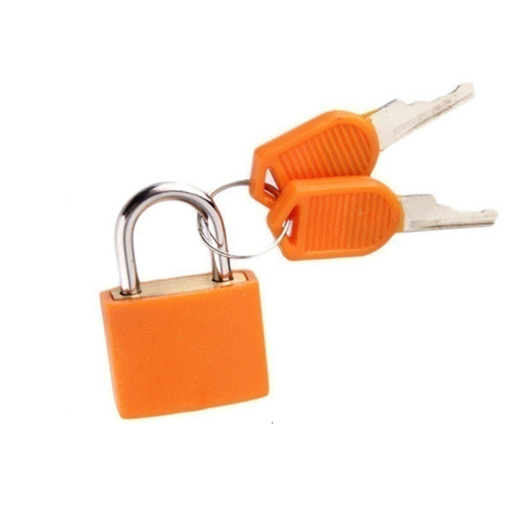 MilkySkinForever Mini Padlock Students Bag Travel Luggage Suitcase Drawer Locks with 2Pcs Keys