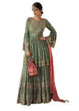 Load image into Gallery viewer, Women's Faux Georgette Semi-stitched Salwar Suit