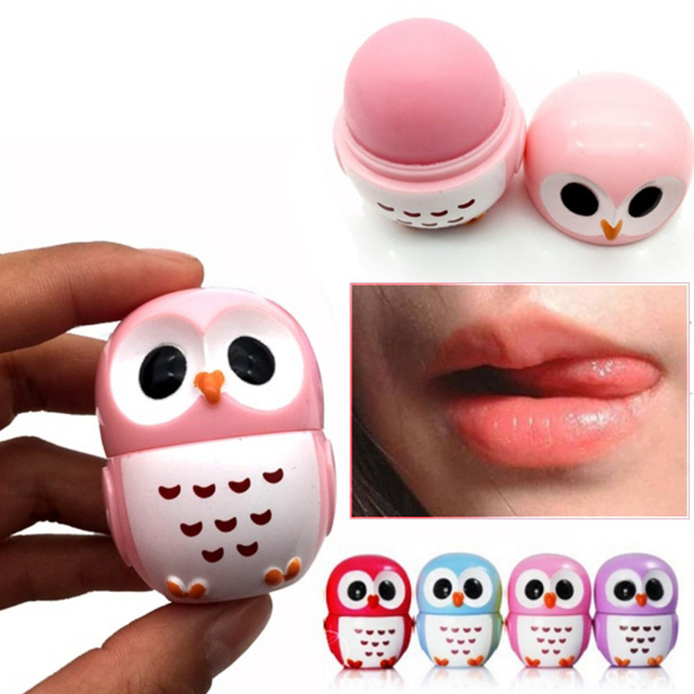 MilkySkinForever Cartoon Owl Smooth Moisturizing Nourishing Natural Plant Sphere Lady Lip Balm