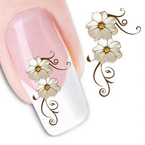 MilkySkinForever DIY Nail Art Stickers Flower Water Transfer Tips Decals Manicure Decoration