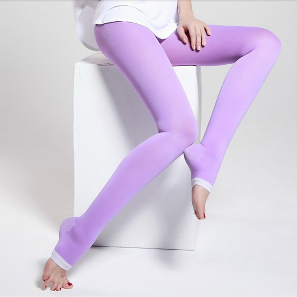 MilkySkinForever Women Elastic Long Socks Compression Pantyhose Slimming Legs Pants Leggings