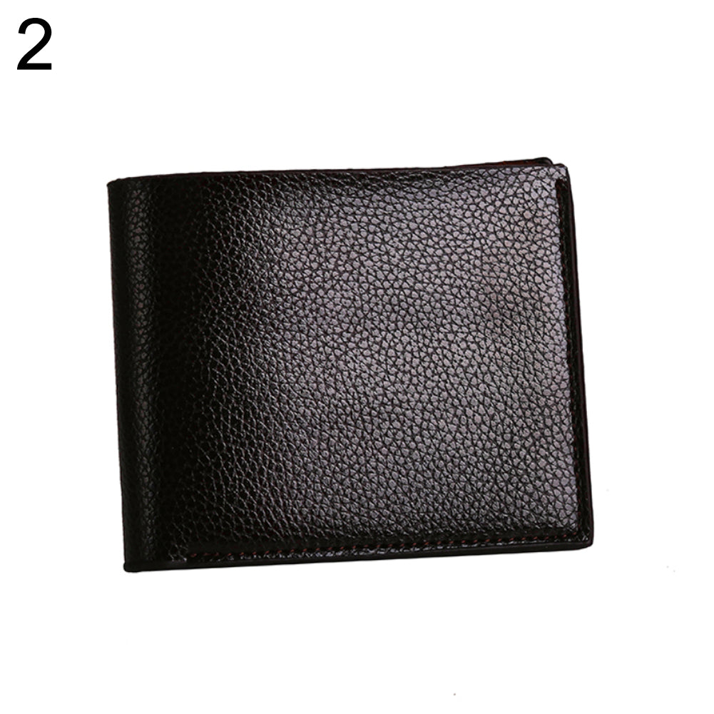 MilkySkinForever Bifold Faux Leather Slim Cash Card Photo Holder Fashion Men Short Wallet Gift