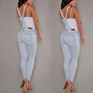 MilkySkinForever Sexy Women's Denim Slim Fit Pants Jeans Overalls Jumpsuits Fashion Rompers