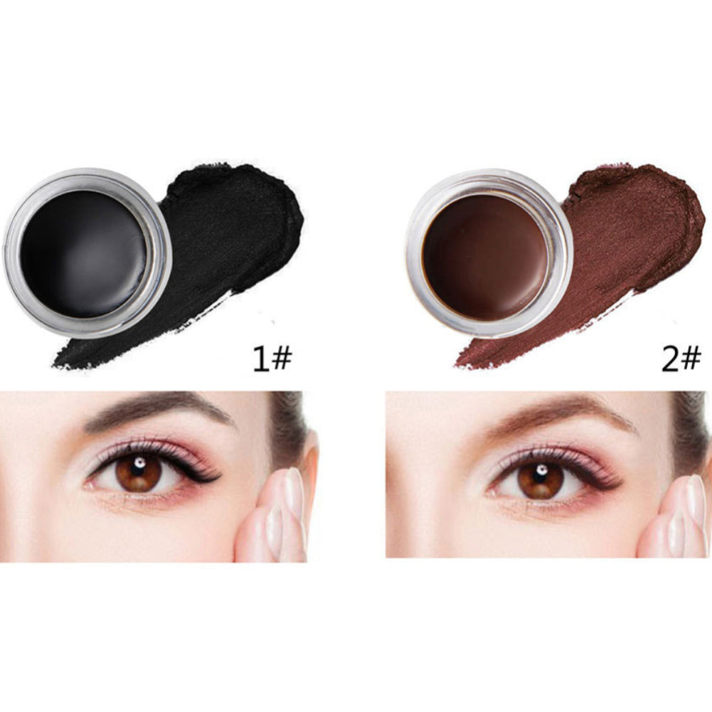 MilkySkinForever Long Lasting Waterproof Soft Gel Eyeliner Eyebrow Makeup Beauty Tool with Brush