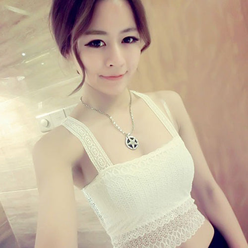 MilkySkinForever Women Fashion Summer Sexy Stretchy Butterfly Lace Strap Camisole Tank Top Vest