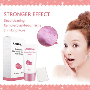 MilkySkinForever Strawberry Blackhead Remover Nose Mask Mud Peel off Acne Treatment Skin Care