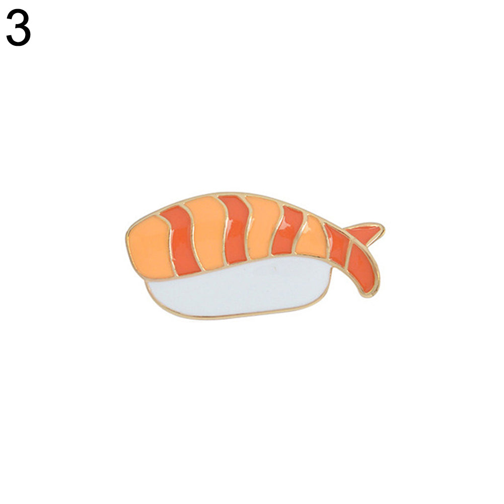 MilkySkinForever Kawaii Sushi Brooch Pin Japanese Food Enamel Badge Jeans Hat Jewelry Decor Gift
