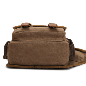MilkySkinForever Men's Vintage Canvas Travel School Casual Shoulder Messenger Crossbody Bag