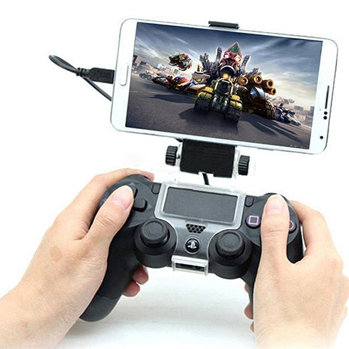 MilkySkinForever Plastic Clip-on Cell Mobile Phone Clamp Holder for PS4 Controller Android Phone