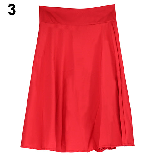 MilkySkinForever Women Summer High Waist Long A Line Pleated Midi Skirt Office Ball Dress