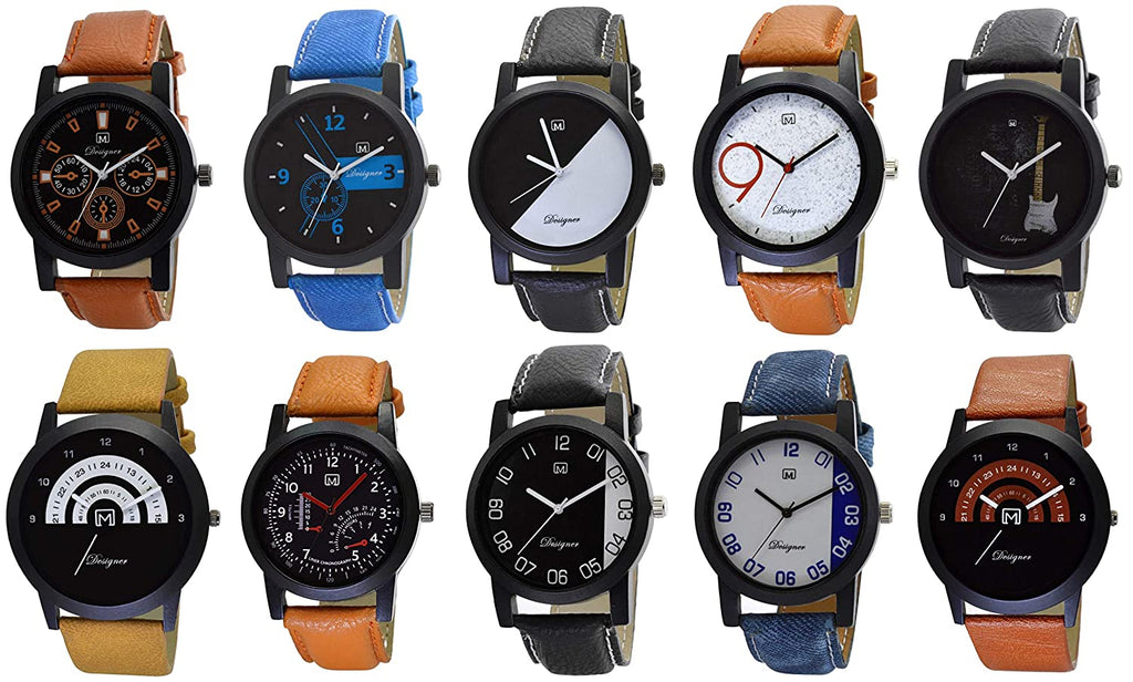 Unisex Analog Watch Combo Of 10 Watches