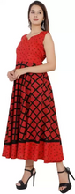 Load image into Gallery viewer, Women Maxi Red Dress