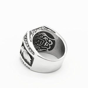 MilkySkinForever Gothic men's ring biker skull ring viking stainless steel eagle male rings men jewelry bague homme Titanium steel drop ship
