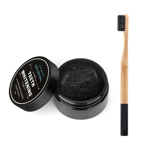 MilkySkinForever Tooth Care Bamboo Toothbrush Natural Activated Charcoal Teeth Whitening Powder