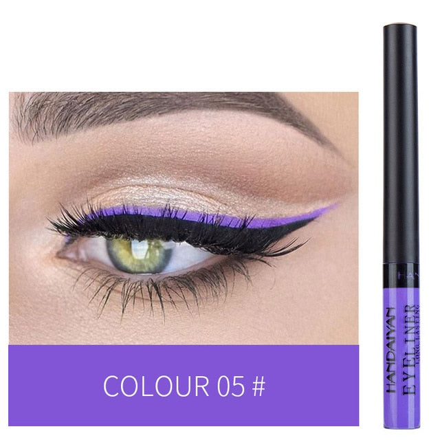 MilkySkinForever Colorful Eyeliner Pencil Eyes Cosmetics Brown Liquid Eye Liner Pen Makeup Color Eyeliners Waterproof Felt-tip Eyliner