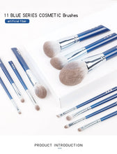 Load image into Gallery viewer, MilkySkinForever makeup brush-The Sky Blue 11pcs super soft fiber makeup brushes set-high quality face&eye cosmetic pens-synthetic hair