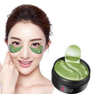 MilkySkinForever 60pcs Seaweed Eye Mask Nourishing Moisturizing Hydration Eye Patches Anti-puffiness Remove Dark Dircles Wrinkle Eye Skin Care