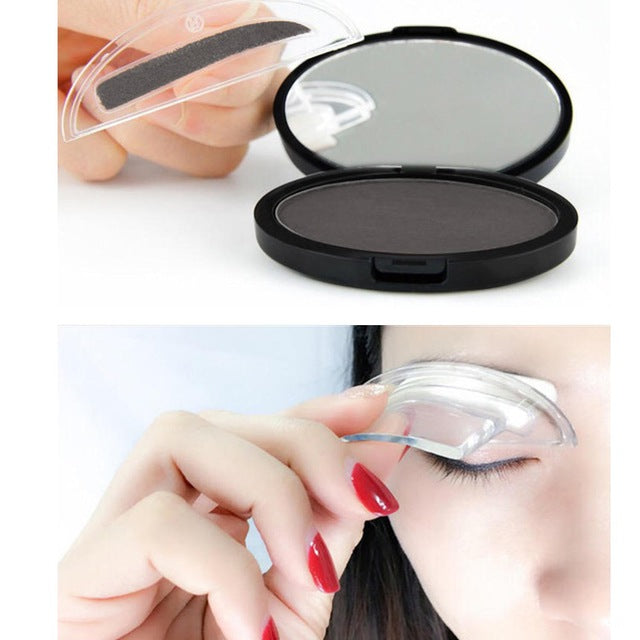 MilkySkinForever Portable Eyebrow Powder Easy Makeup Sweatproof Powder Stamp Eyes Cosmetic Eye Brow Powder for Natural Perfect Eyebrow Shape