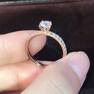 MilkySkinForever New Trendy Crystal Engagement Design Hot Sale Rings For Women White elegant rings Female Wedding Bridal jewelry Gift