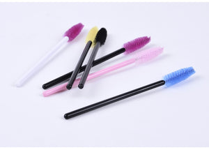 MilkySkinForever 10 pcs One-Off Disposable Eyelash Mini Brush Mascara Applicator Wand makeup Brushes Eyes Care Better Styling Tools