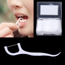 Load image into Gallery viewer, MilkySkinForever 50pcs Dental Floss Flosser Picks Teeth Toothpicks Stick Tooth Clean Oral Care 7.5cm