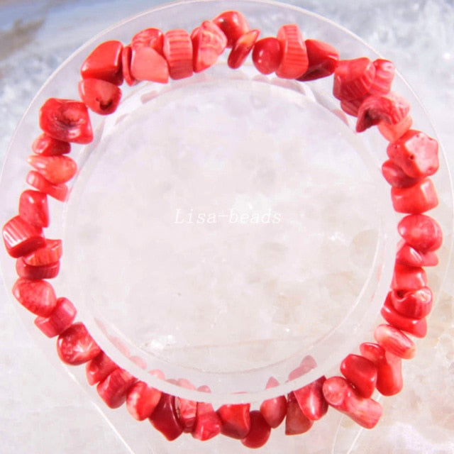 "MilkySkinForever Bangle Jewelry Gift for Women Girls Natural Stone Chip Beads Bracelet Crystal Opal Carnelian Lapis Cord Stretch  8"" 1Pcs"