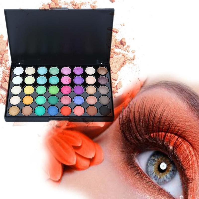 MilkySKinForever 40 Color Eyeshadow Pallete Warm Color Smoky Makeup Palette Matte Multicolor Eyeshadow Palette Lasting Professional 1pc