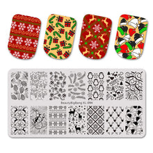 Load image into Gallery viewer, MilkySkinForever Nail Stamping Plates Natural Animal Snake Scale Flower Wolf Theme Image 12*6cm Template Mold Nail Art Stencil