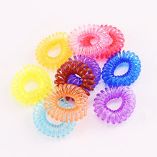 Load image into Gallery viewer, MilkySkinForever 10PCS/Lot New 2cm Small Telephone Line Hair Ropes Girls Colorful Elastic Hair Bands Kid Ponytail Holder Tie Gum Hair Accessories