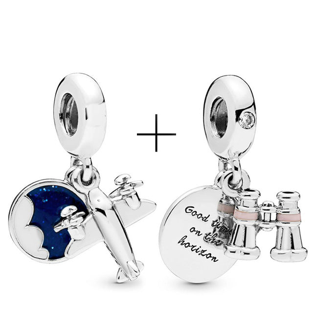 MilkySkinForever 2Pcs/lot Harry style Charm Pendant Bead Fits Pandora Bracelet & Necklace For Women Jewelry Diy Making Gifts Special Offer