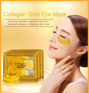 MilkySkinForever cosmetics collagen eye patches Mask skin care 24k Gold Crystal Eye Patch Colageno Gel Eye Pads eye patches mask