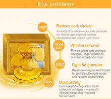 Load image into Gallery viewer, MilkySkinForever cosmetics collagen eye patches Mask skin care 24k Gold Crystal Eye Patch Colageno Gel Eye Pads eye patches mask
