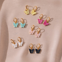 Load image into Gallery viewer, MilkySkinForever Cute Butterfly Earrings for Women Street Style Drop Earrings Korean Fashion Dangle Earrings Jewelry Gifts Oorbellen