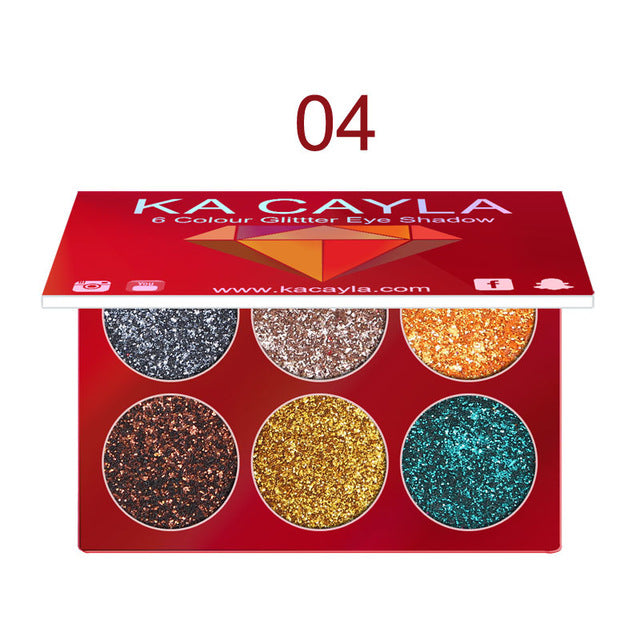 MilkySkinForever 5 Color Shimmer Diamond Glitter Eyeshadow Palette Nude Minerals Eye Shadow Ultra Pigment Powder Cosmetic Waterproof Matte Makeup