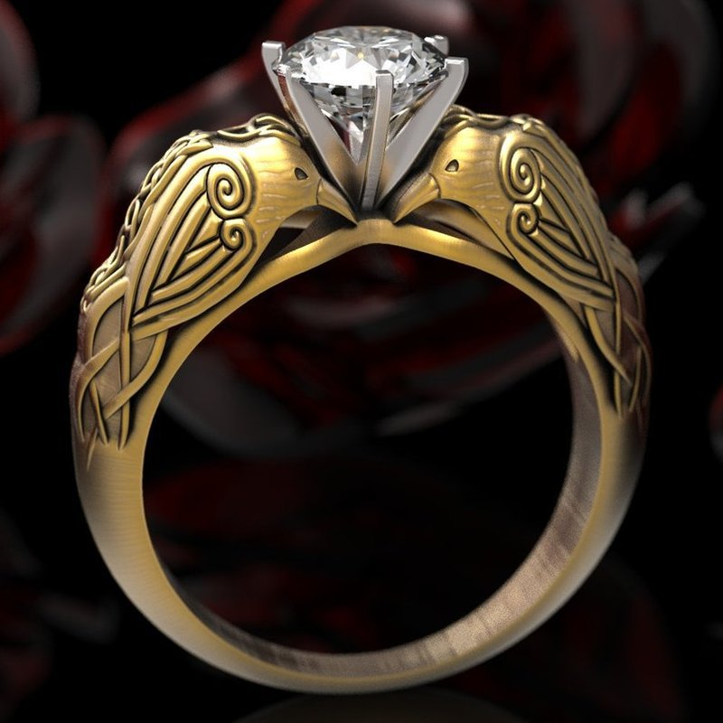 MilkySkinForever 925 Silver Female Engraving Totem Rhinestone Inlay Zircon Lady Ring Jewelry Punk Hip Hop Style Ring
