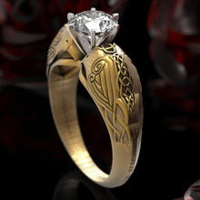 Load image into Gallery viewer, MilkySkinForever 925 Silver Female Engraving Totem Rhinestone Inlay Zircon Lady Ring Jewelry Punk Hip Hop Style Ring